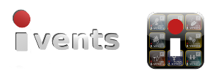 logo scritta ivents
